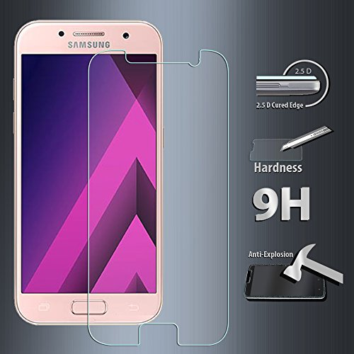 [2-Pack]Galaxy A3(2017) Tempered Glass Screen Protector, ZeKing 0.33mm 2.5D Edge 9H Hardness [Anti Scratch][Anti-Fingerprint] Bubble Free, Lifetime Replacement Warranty Photo #7