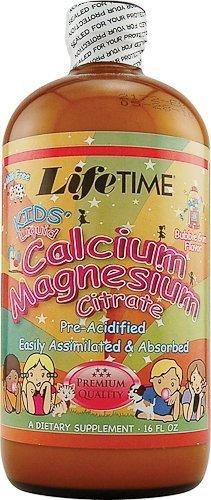 Lifetime Liquid Calcium Magnesium Citrate (Kids' Liquid Calcium Magnesium Citrate, Bubble Gum Flavour, 16 fl oz by Lifetime)