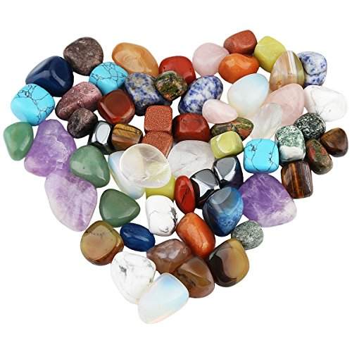 (rockcloud 1 lb Tumbled Polished Stones Gemstone Supplies for Wicca,Reiki,Healing Crystal,Assorted Stones)