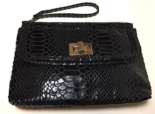 (NEW Balmain Parfums Black Leather Makeup Bag Cosmetic Case Travel Pouch NWT )