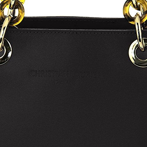 Christian Laurier - Sac à main en cuir modèle Norah Noir - Sac à main haut de gamme fabriqué en Italie