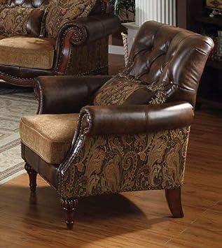 Amazon.com: Acme dreena silla con 1 Almohada en Floral ...