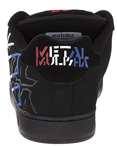 Etnies Metal Mulisha Fader Black Blue Mens Leather Skate Trainers