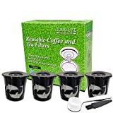 HAI+ Reusable K Cups Compatible For Keurig 1.0 & 2.0 Machines, For Easy To Use Refillable Single Cup Coffee Filters (Black)