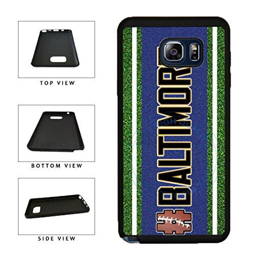 (BleuReign(TM) Hashtag Baltimore #Baltimore Football Team TPU RUBBER SILICONE Phone Case Back Cover For Samsung Galaxy S8 Plus)