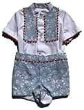 Colibri Azul Boys Beautiful Blue, White and Red Floral Print Matching Shirt and Shorts Set