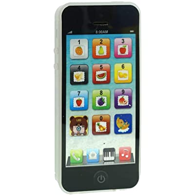 Black Yphone Y-Phone Phone Toy Play Music Learning English Educational Cell Phone Mobile Best Prize for Baby Kids Children: Toys & Games