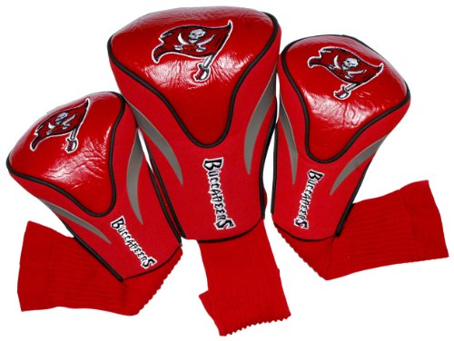 (Team Golf NFL Tampa Bay Buccaneers Contour Golf Club Headcovers (3 Count), Numbered 1, 3, & X, Fits Oversized Drivers, Utility, Rescue & Fairway Clubs, Velour lined for Extra Club Protection)