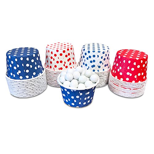 Mini Baking Cups - Red Navy Blue and White Dot - 2 x 1.5