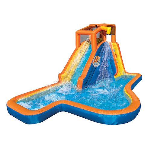 Banzai Slide 'N Soak Splash Park Constant Air Water Slide (Nearly 8ft Tall and Includes Blower Motor) by BANZAI (Image #1)
