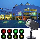 Laser Light Projector,YINUO LIGHT Outdoor Laser Lights Waterproof with Red and Green Galaxy Shower, Wireless Remote Controller, Red and Green Lighting Slide Show for Christmas Xmas Party Landscape Garden Yard House Decoration(Galaxy)