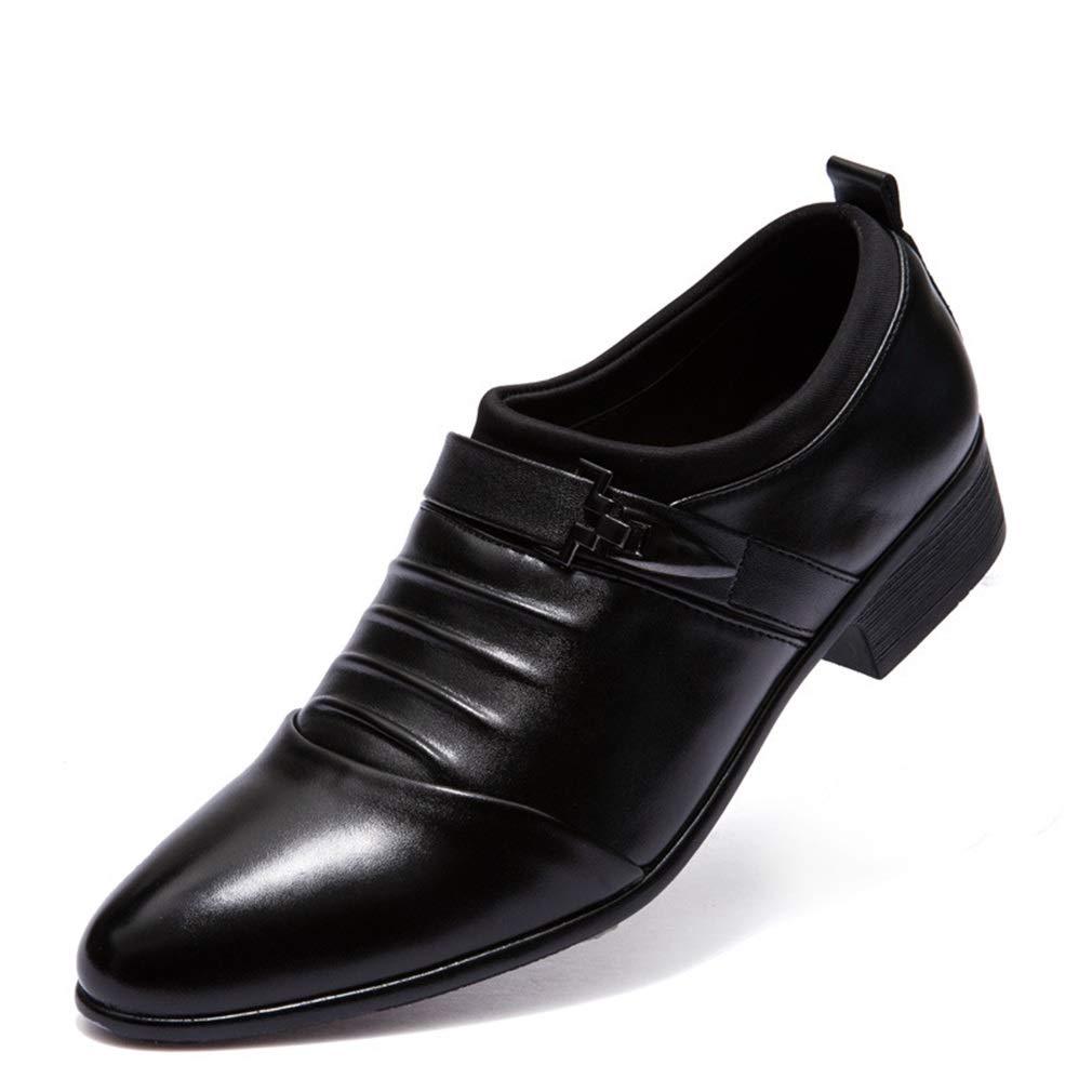 Zapatos Formales de los Hombres de Punta Estrecha agrandan Zapatos PU 2018 Zapatos de Vestir de Negocios de la Oficina y Carrera de Primavera y otoño YAN 48 EU|Segundo