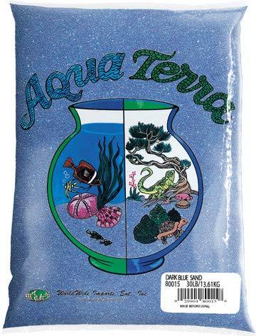 Nature's Ocean Aqua Terra Dark Blue Sand 5 lb Bag, Natural Aquarium Sand ()
