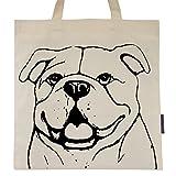 English Bulldog named Bianca Tote Bag