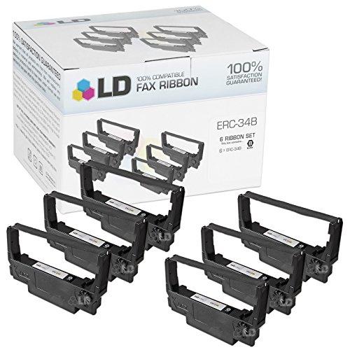 LD © Compatible Epson ERC-34B Set of 6 Black Ribbons for use in Epson TM-U220A TM-U220B & TM-U220D