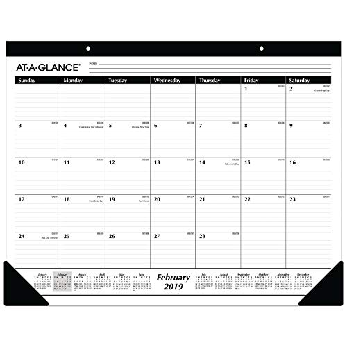 AT-A-GLANCE 2019 Monthly Desk Pad Calendar, 22