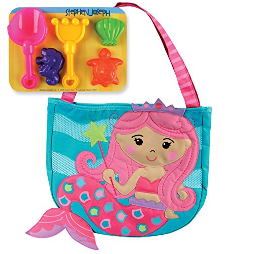 Stephen Joseph Beach Tote, Mermaid,One (Stephen Joseph Girl)