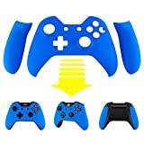 eXtremeRate Blue Soft Touch Front Shell Face Plate with Left Right Panel Handle Side Rails for Xbox One Standard and W/3.5mm Headset Jack Controller For Sale