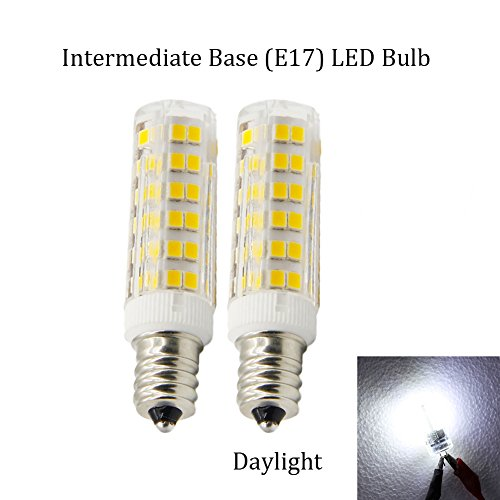 (Pack of 2) Dimmable LED Daylight Bulb with E17 Intermediate Base,120 volt,5000k,550lm,Equivalent 40w to 60 watt Incandescent,Replaces T7/T8/S11 Light Bulb (Appliance Bulb Led T8 compare prices)