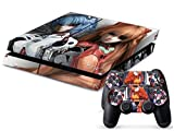 MightyStickers Protective Vinyl Skin Decal Cover for Sony PlayStation 4 PS4 Console & Remote DualShock 4 Controller Sticker Skins - Neon Genesis Evangelion: Rei Ayanami & Asuka Langley Soryu