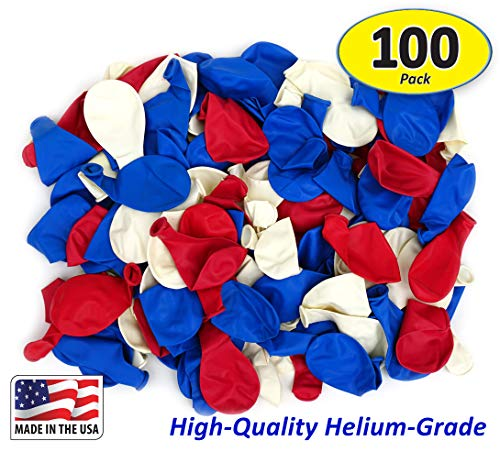 Garage Sale Pup Pack of 100, Assorted Bright Red, White and Blue Color 5