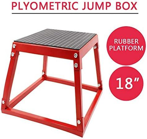 Weanas juego de plataforma pliométrica para ejercicios de cajas de salto pliométricas para entrenamiento individual en alturas de 12 pulgadas, 18 pulgadas, 24 pulgadas y se instala hasta 30 pulgadas, 18