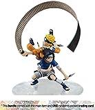 Uzumaki Naruto & Uchiha Sasuke: ~5.85'' Naruto Shippuden x Megahouse G.E.M. Remix Statue Figurine + 1 Anime Themed Trading Card Bundle