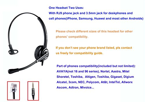 gaixample.org Phones Headsets MAIRDI Telephone Headset for Call ...