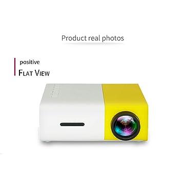 YFQH Mini Proyector,Proyector portátil de Bolsillo, proyector LED ...