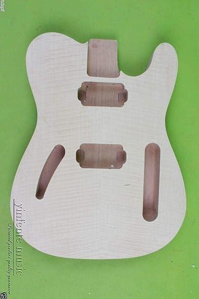 Cuerpo de guitarra inacabado, estilo Tele, tapa de arce para ...