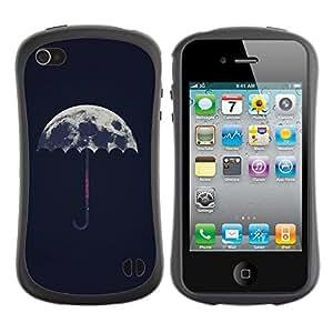 Suave TPU GEL Carcasa Funda Silicona Blando Estuche Caso de protección (para) Apple Iphone 4 / 4S / CECELL Phone case / / Meaning Artistic Umbrella Rain /