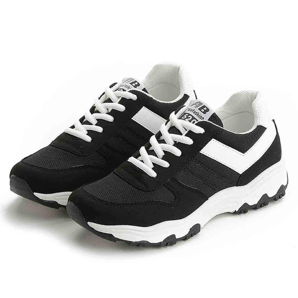 4078a2a5217ee Amazon.com: Sharemen Fashion Women Lace-Up Sports Shoes Breathable ...