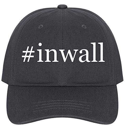 The Town Butler #Inwall - A Nice Comfortable Adjustable Hashtag Dad Hat Cap, Dark Grey, One Size