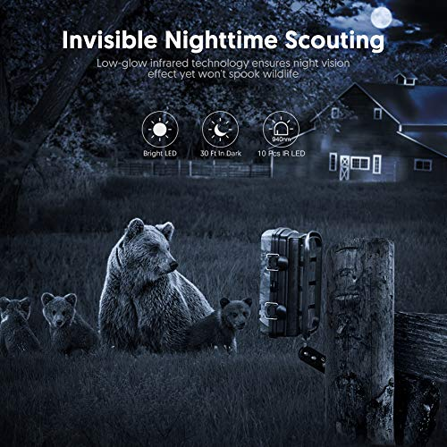 Victure Trail Game Cam with Night Vision