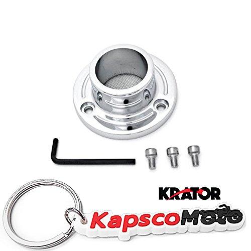 Krator 2005-2007 Yamaha TT-R230 Dirt Bike Exhaust Tip Muffler Power Outlet Polished Chrome + KapscoMoto Keychain