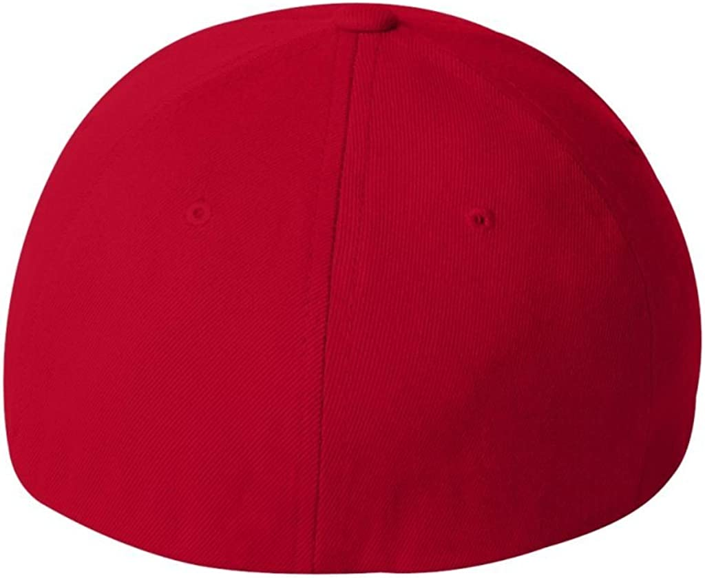 Red, Small//Medium Flexfit Fitted Mid-Profile Structured Wool Cap