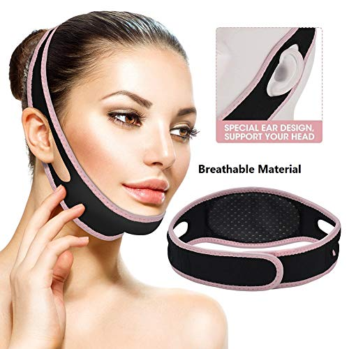 Face Slimming Strap + Bonus Vline Face Lifting Mask  Best Double Chin Reducer Strap  Double Chin Eliminator  Chin Strap For Double Chin For Women   Chin Slimming Strap  V Shaped Slimming Face Mask
