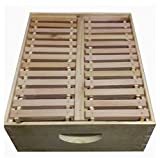 Eco Bee Box full medium pine comb super/box. Holds 26 foundationless frames. Comes assembled
