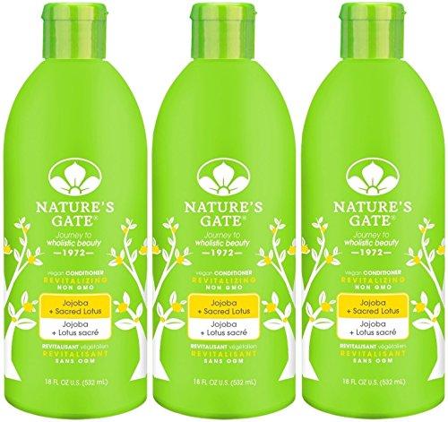 Nature's Gate Jojoba Revitalizing Conditioner for Damaged Hair, 18-Ounce Bottles (Pack of 3)