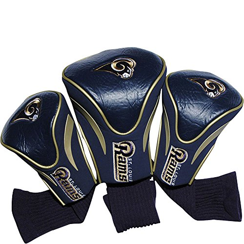 St Golf Bag Louis Rams (Team Golf USA St. Louis Rams 3 Pack Contour Headcover (Team Color))