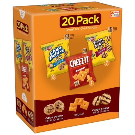 Kellogg's Snacks, Assorted, Fudge Shoppe, Chips Deluxe, Cheez-It (Pack of 20) by Generic (Image #1)