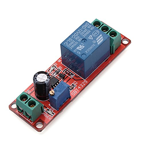 ILS - 3 pieces Delay Timer Switch Adjustable 0-10sec With NE555 Electrical Input 12V 10A