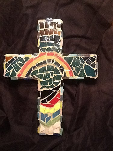 Mosaic Cross Rainbow Wall D Cor  Christian Art
