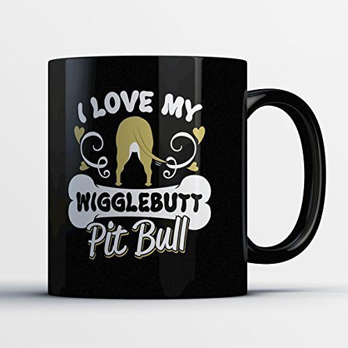 Pit Bull Gift - Pit Bull Mom Mugs - Pitbull Gifts for Owners - Gifts for Pit Bull Lovers - Pitbull Gift - Pit Bull Coffee (Martha Stewart Glass Mug)
