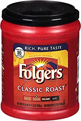 Folgers Classic Roast, Medium Roast, Ground Coffee, 11.3 Ounce