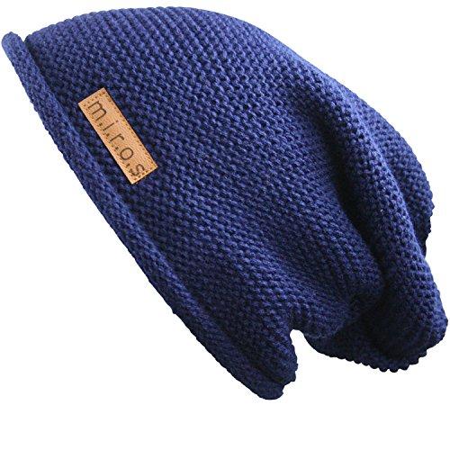 m.i.r.o.s - Gorro de punto - para hombre azul azul marino Talla única