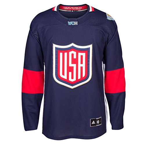 USA World Cup of Hockey 2016 Adidas Men's Premier Jersey (Medium)