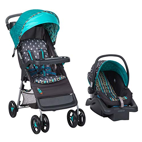 Babideal Lightweight Compact Folding Baby Stroller & Infant Car Seat Seat, Boho