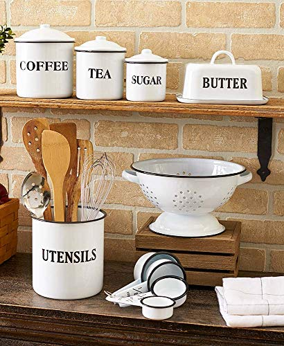 Country Enamelware Kitchen Collection Bundle (7 Items)