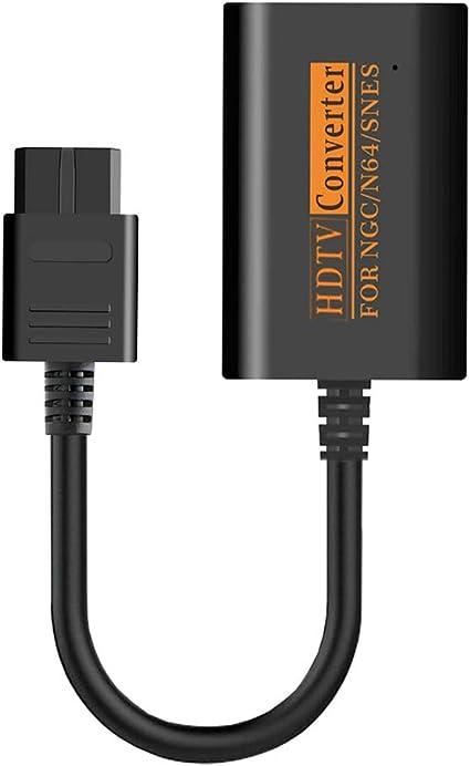 NXACETN Convertidor Adaptador HDMI 1080P Cable HD Compatible con Consola Nintendo 64 / SNES/NGC Gamecube